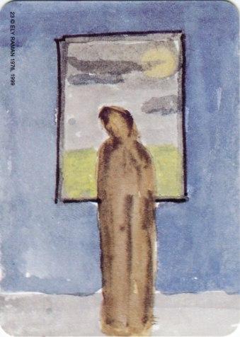 Карта из колоды метафорических карт Ох: человек у окна