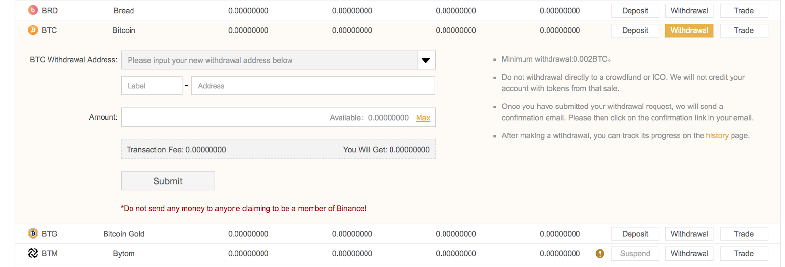 How to use Binanace to buy/sell or trade altcoins?