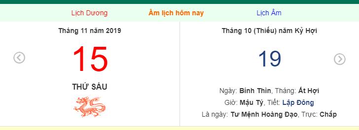 Dự đoán kết quả xsmb ngày 15/11/2019 theo con giáp