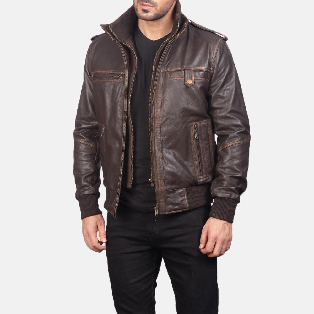 Glen Street Brown Leather Jacket