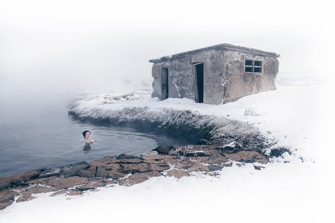 Iceland is a home of many hot spring
