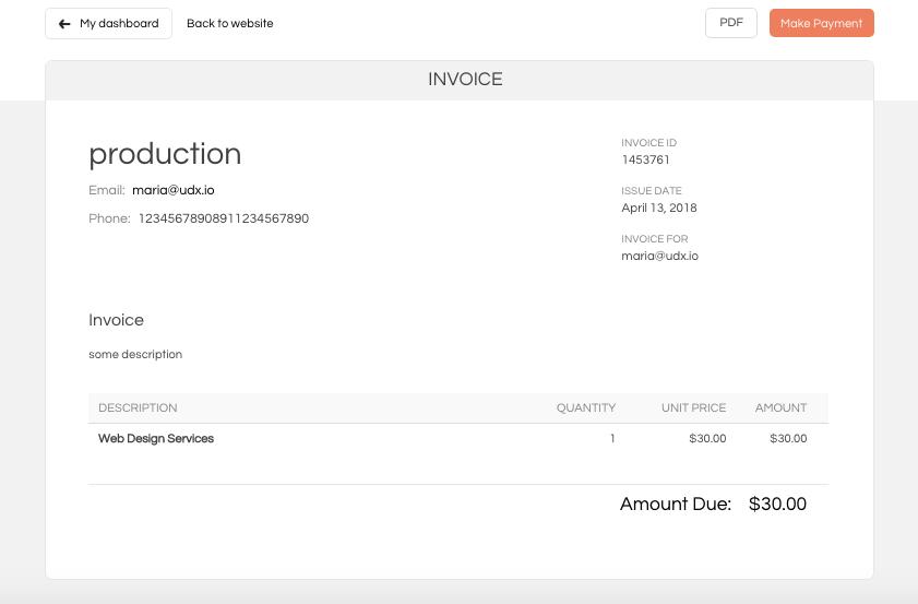 wp invoice sample invoice template