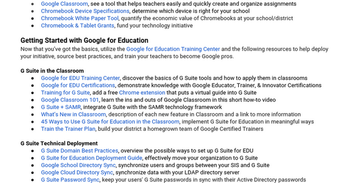 Google for Education Essential Resources Guide [PUBLIC