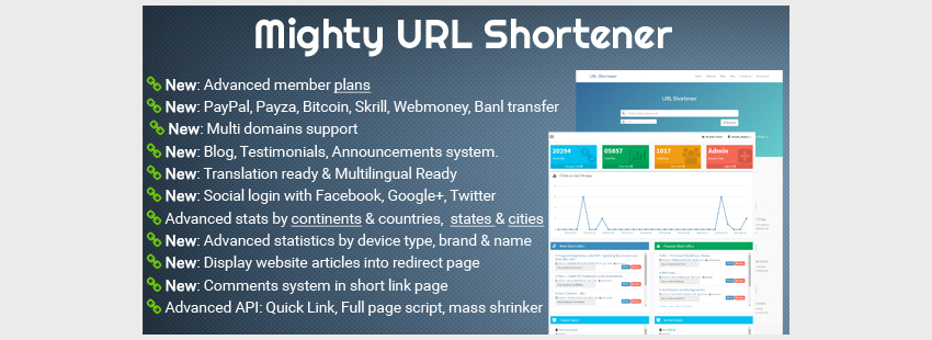 Mighty URL Shortener  Short URL Script