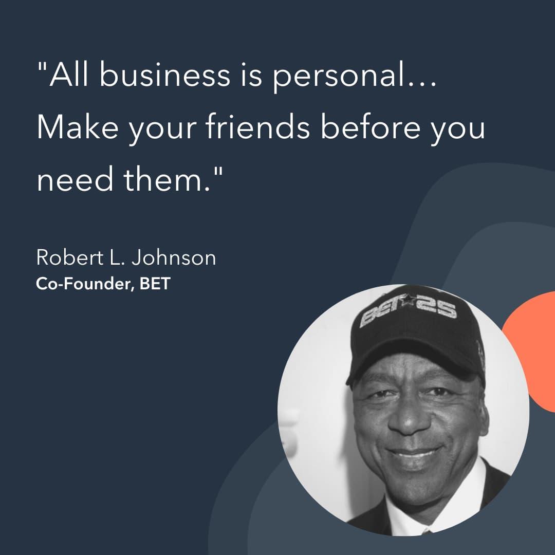 entrepreneur advice Robert Johnson