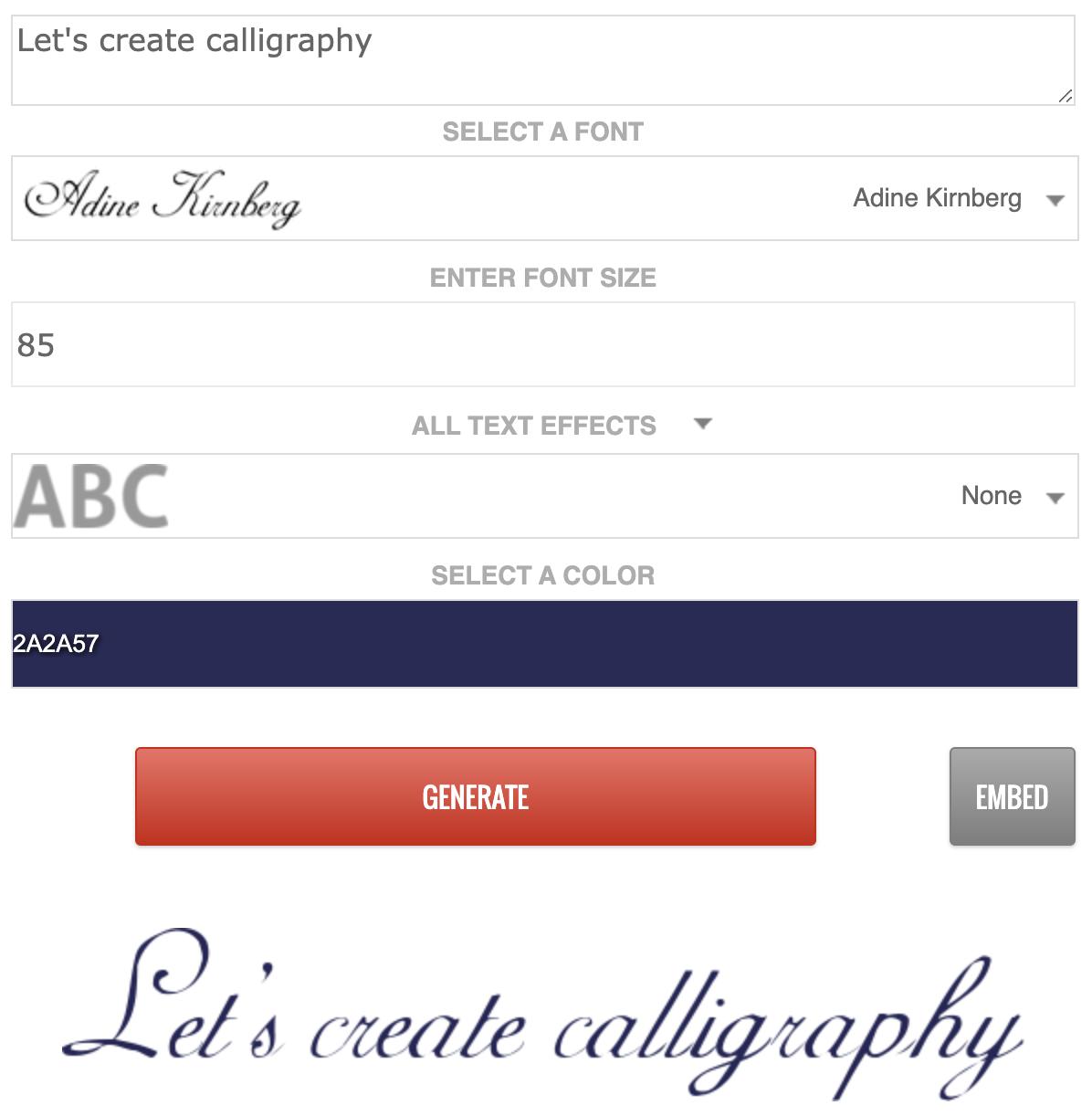 font website