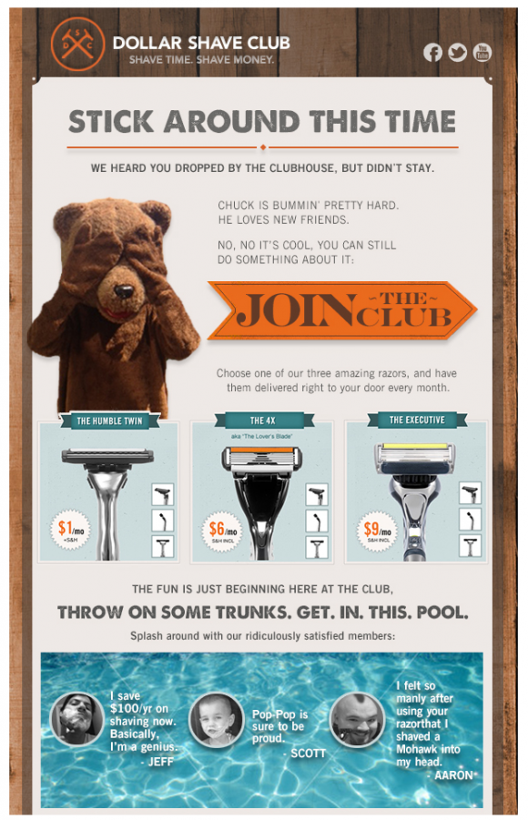 lapsed email dollar shave club
