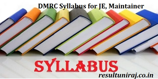 DMRC Syllabus 2018