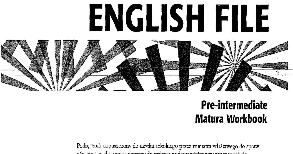 Решебник workbook new english file pre-intermediate