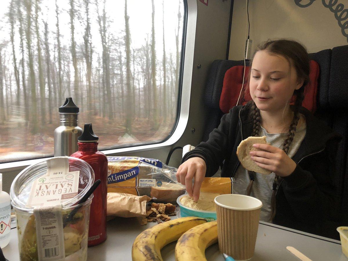 """Greta Thunberg on Twitter: """"Lunch in Denmark.… """""""