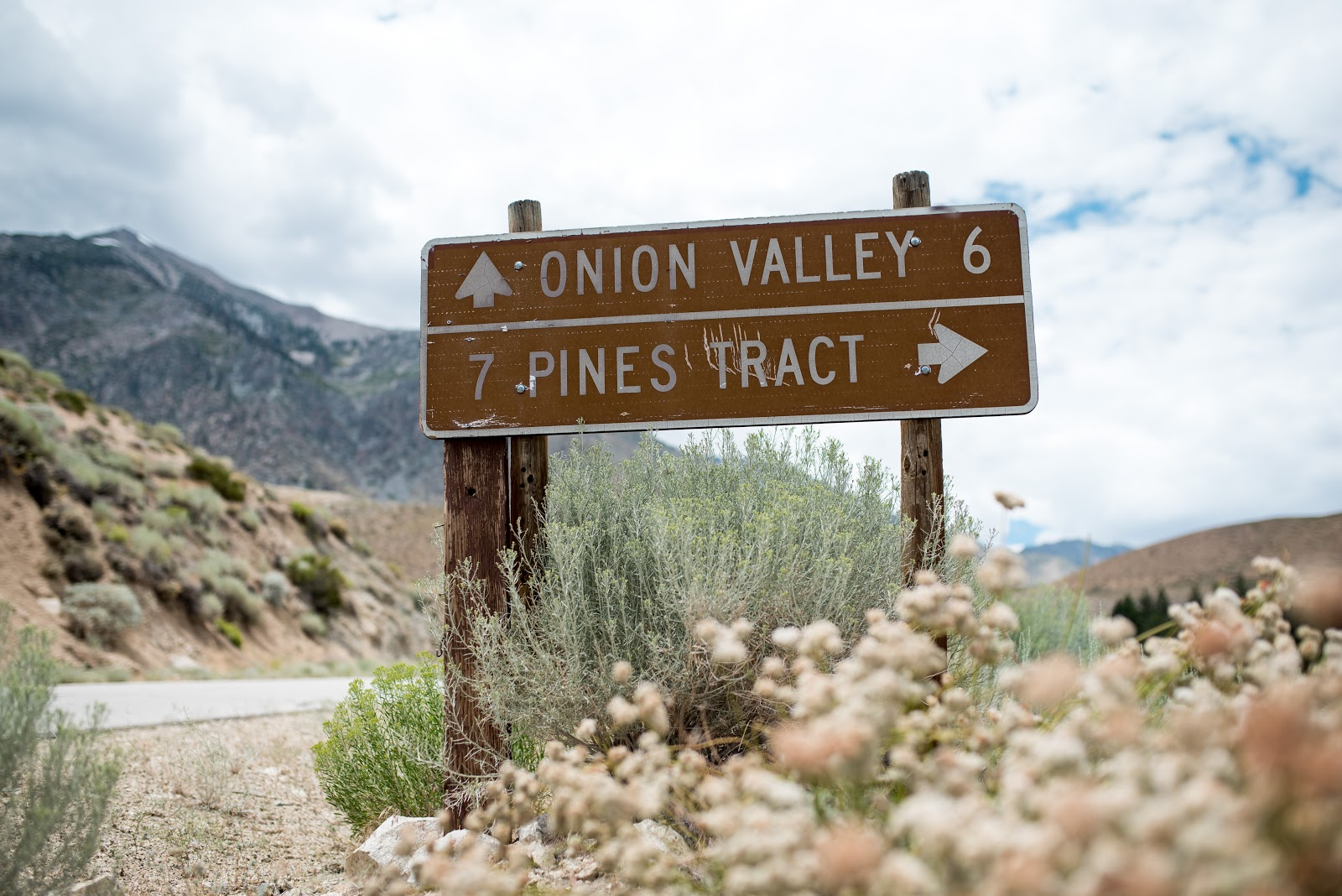 Cycling near the top of Onion Valley Road, Owens Valley CA