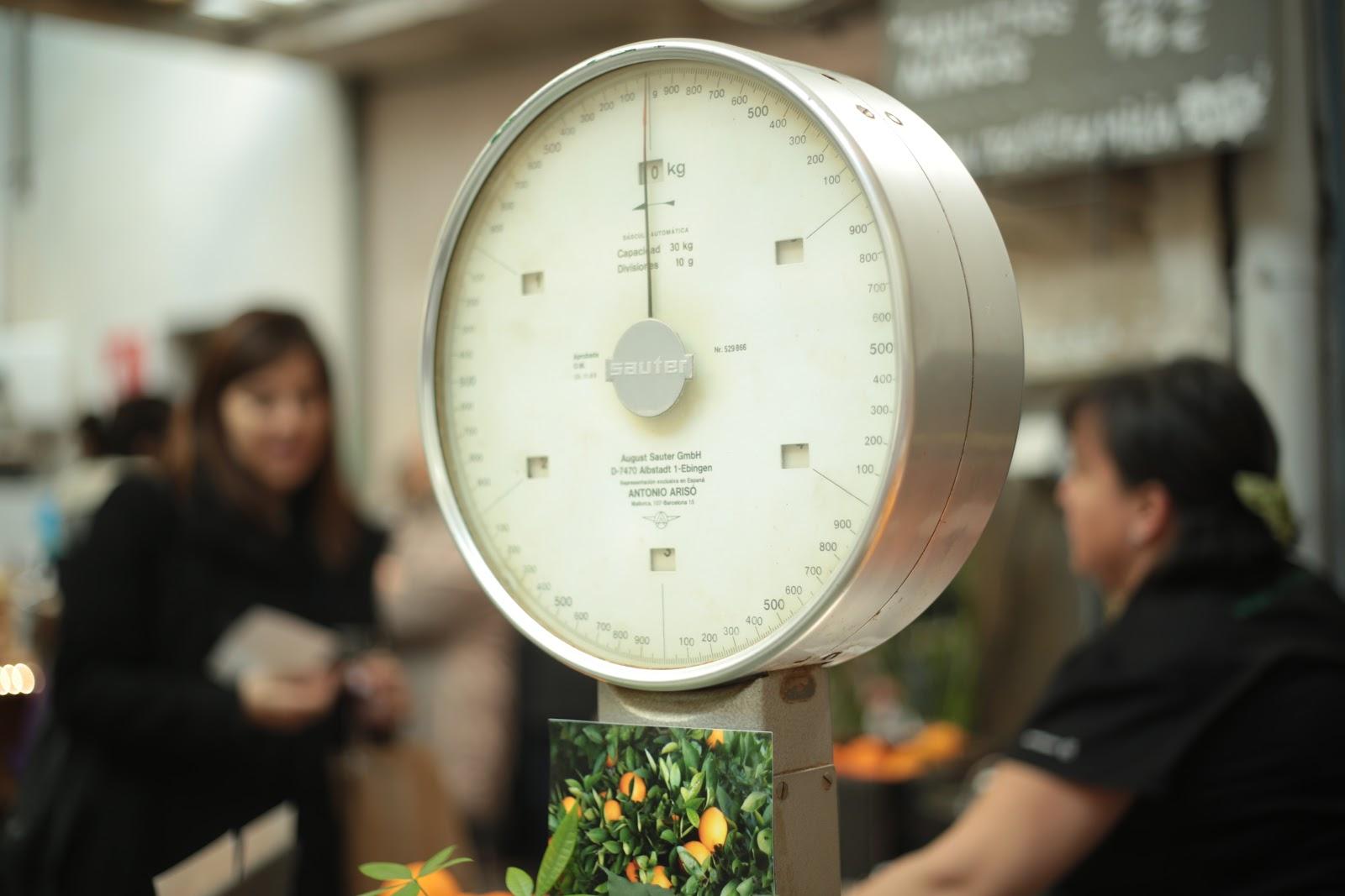 old fashioned produce scale