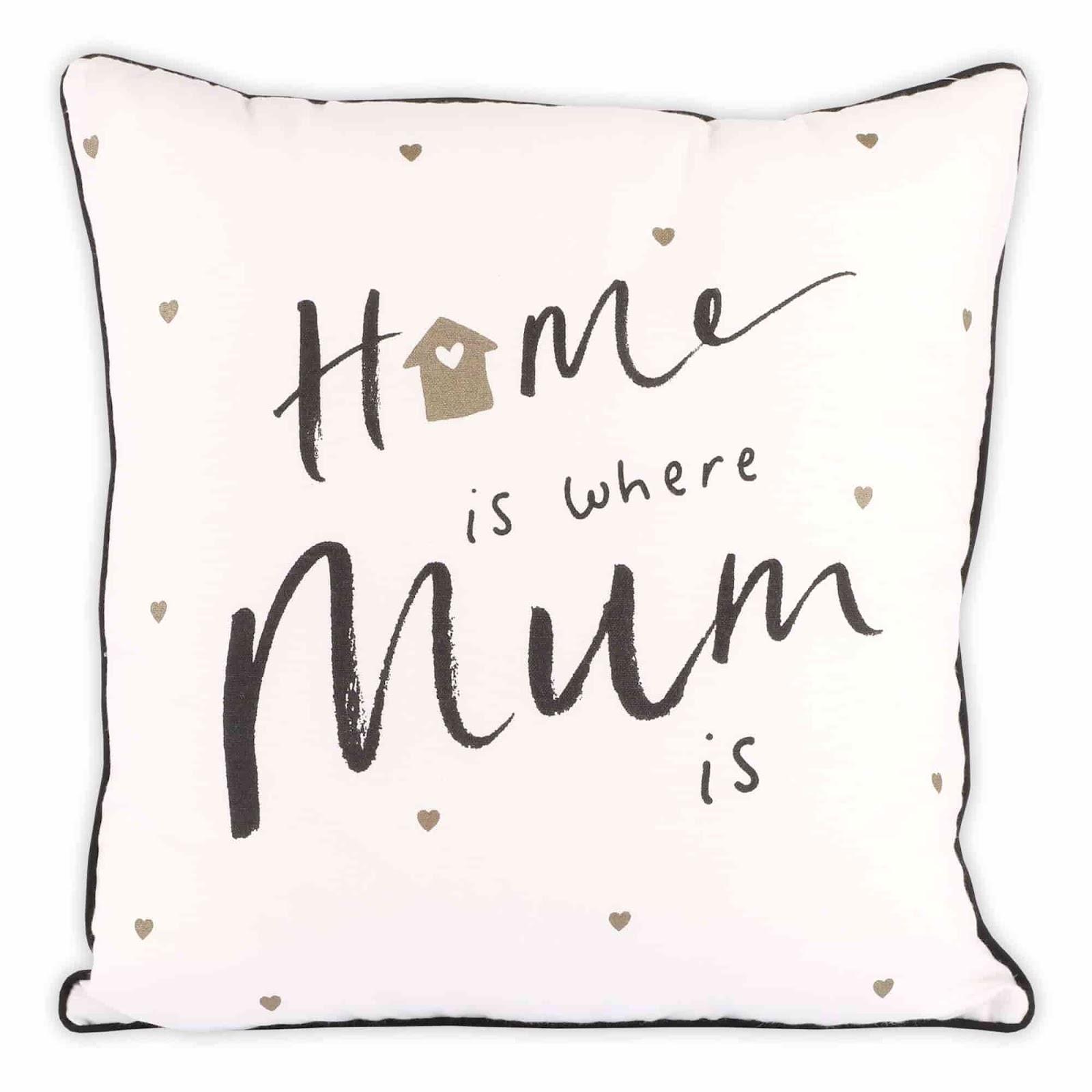 Dorm Room Decor Ideas; Clintons' home is where mum is cushion