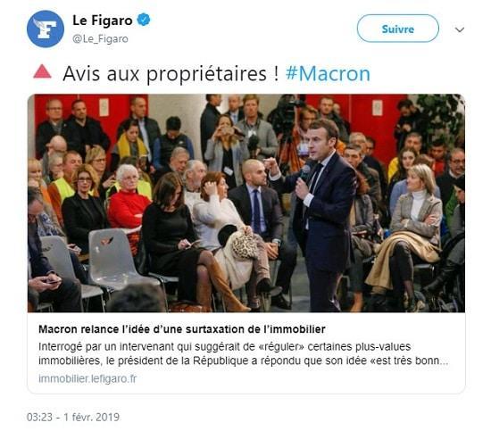 Macron - immobilier - taxe