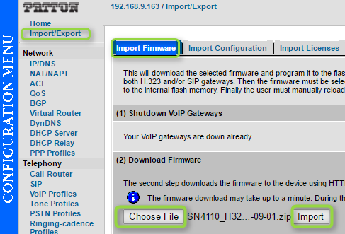 Configuring Patton SmartNode - Analog 2 and 4 Port FXS VoIP
