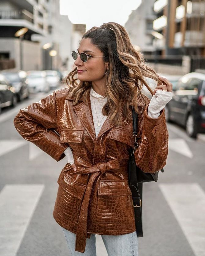 Leather raincoats 37