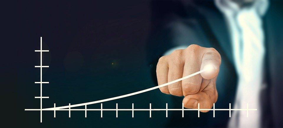 Businessman, Control, Success, Statistics, Presentation