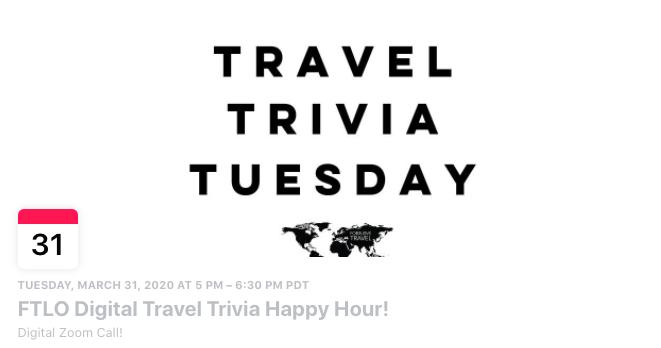 travel trivia tuesday