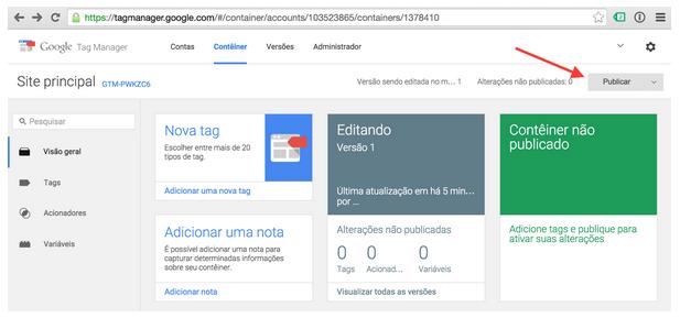 Google Tag Manager : Publicar