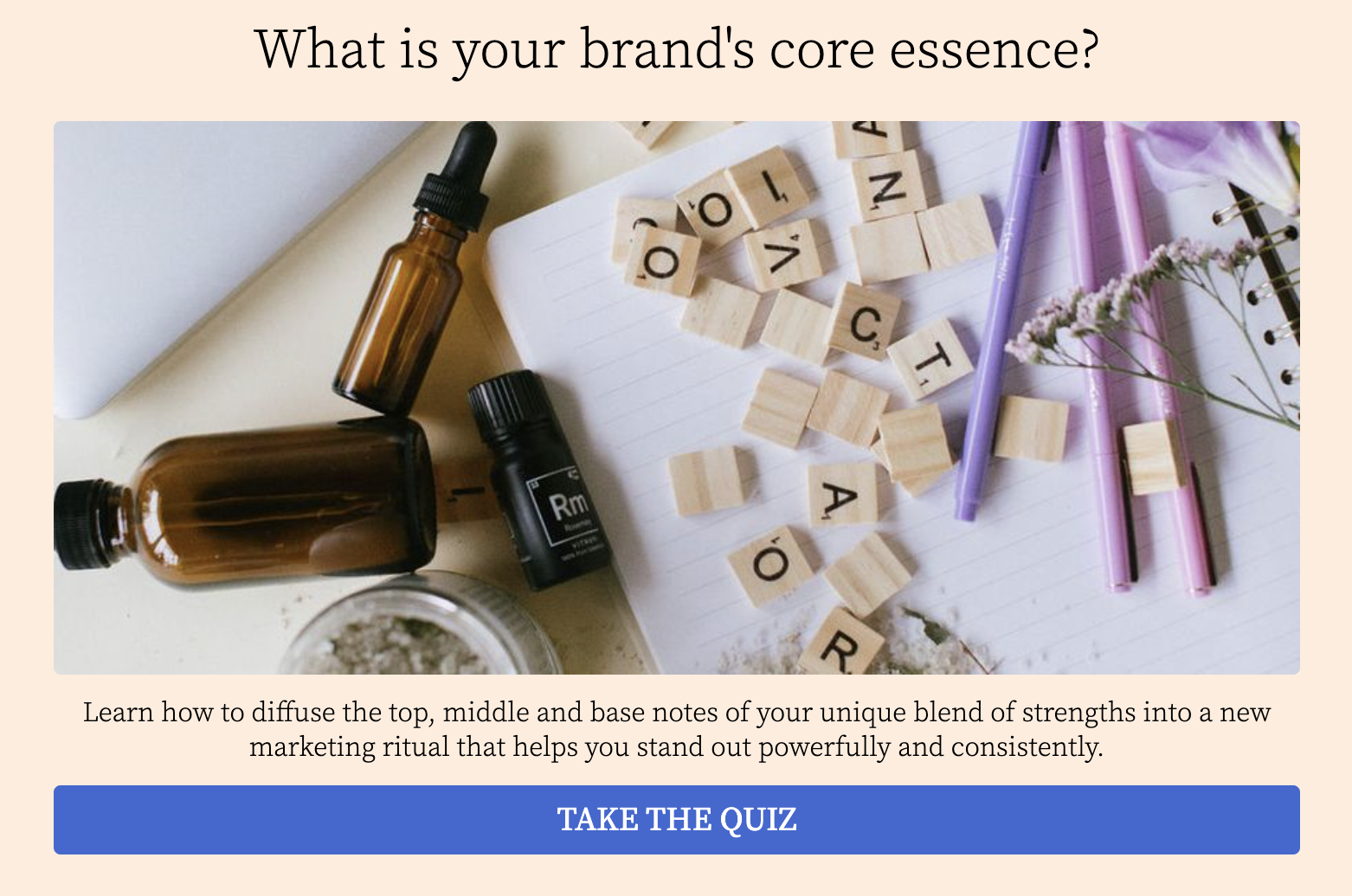 quiz cover for What's your brand's core essence