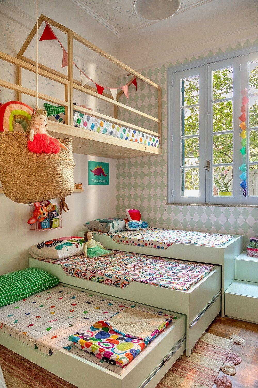 Giường ngủ có thể gấp gọn phù hợp cho nhà có đông con cái