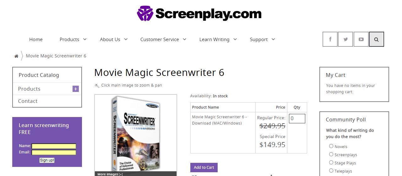 movie magic screenwriter screenwriting software