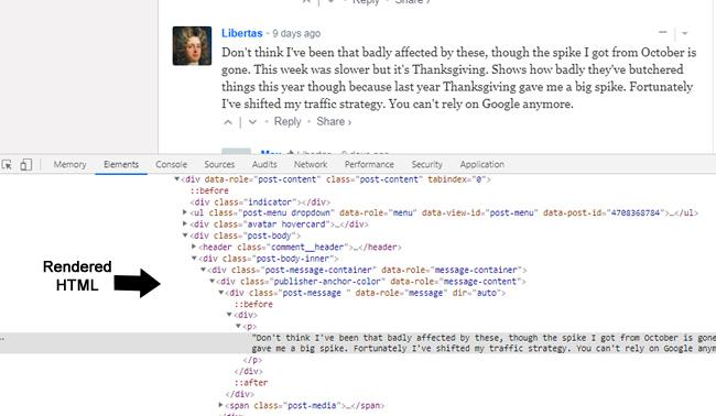 преобразованная HTML страница