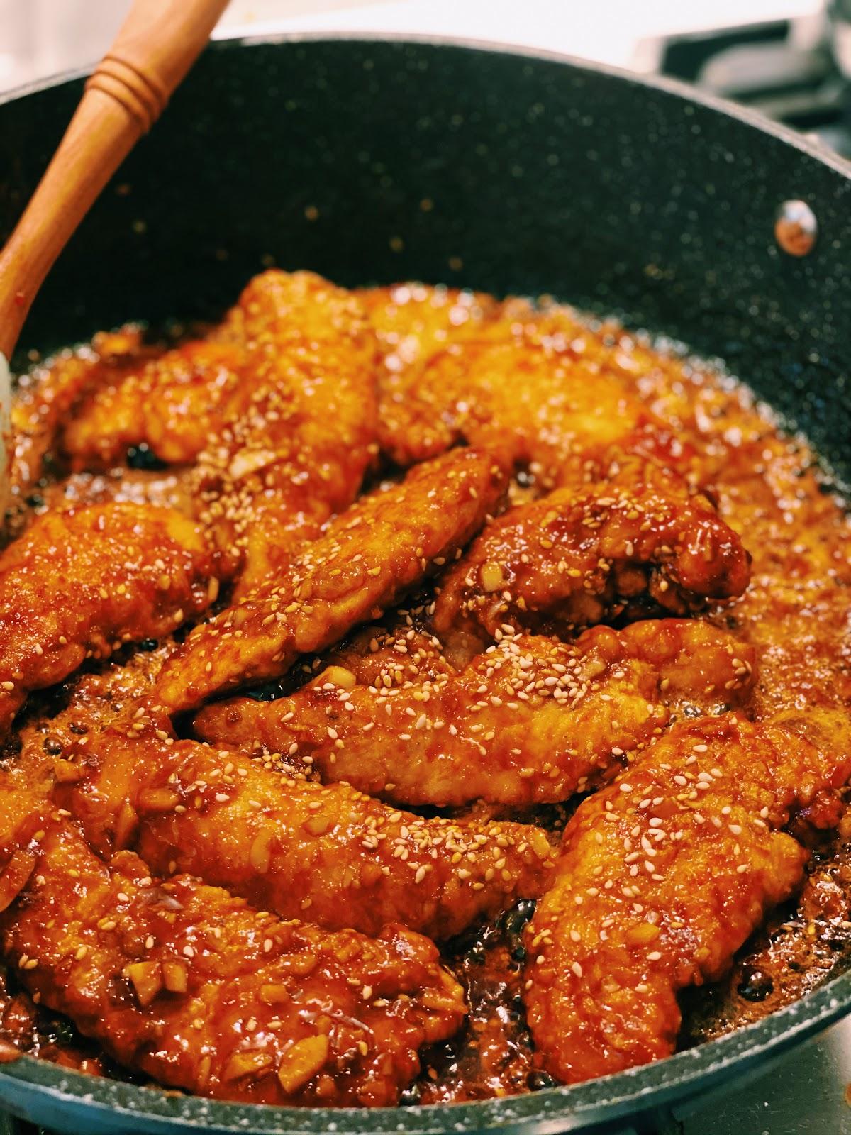 Spicy Honey Garlic Chicken Tenders