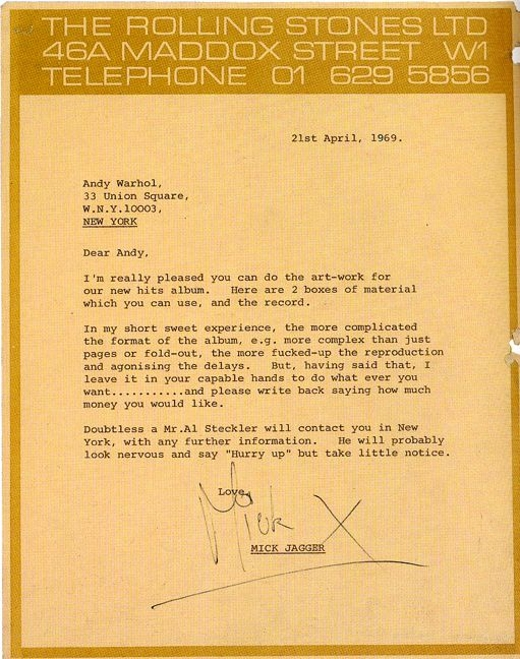 Mick Jagger to Andy Warhol