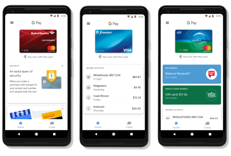 Google Pay on the web