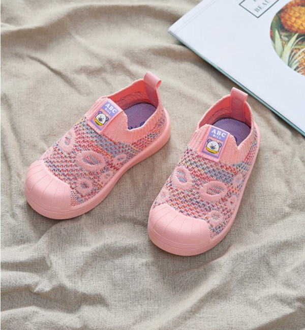 Embroidery Flying Woven Slip-On Shoes