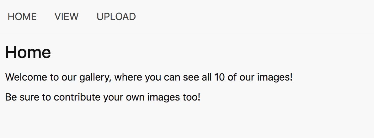 Screenshot of simple gallery website.