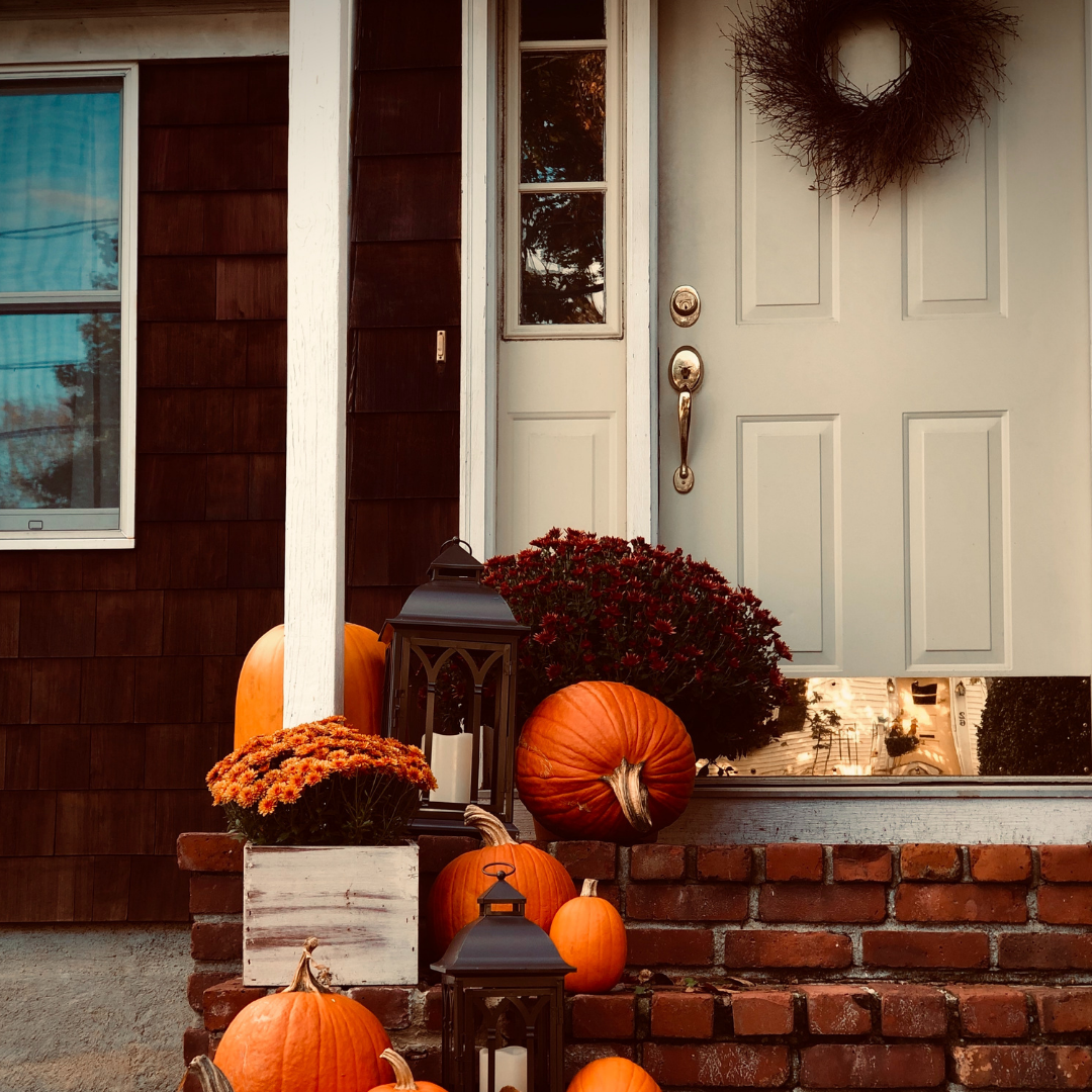 fall decorations for the front door