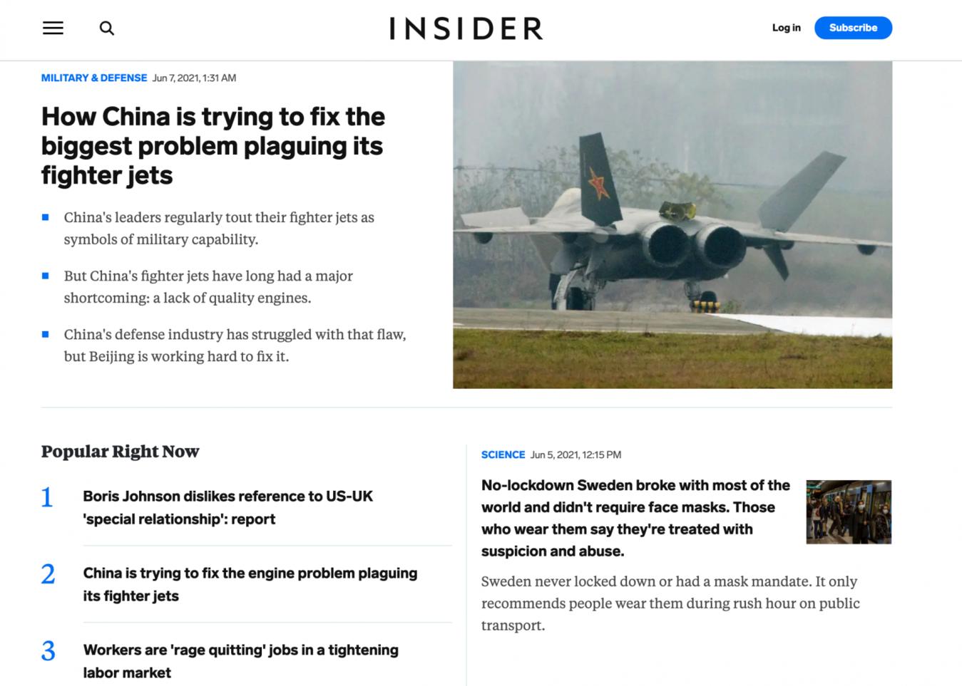 Business Insider landingspagina