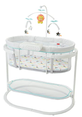 2. Fisher-Price Soothing Motions Bassinet with JPMA certification