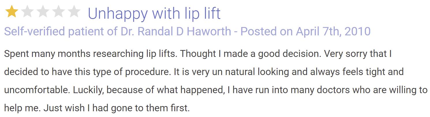 Dr. Randal Haworth review 3