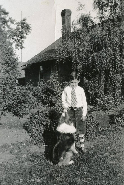 Young Del with his dog Pardner