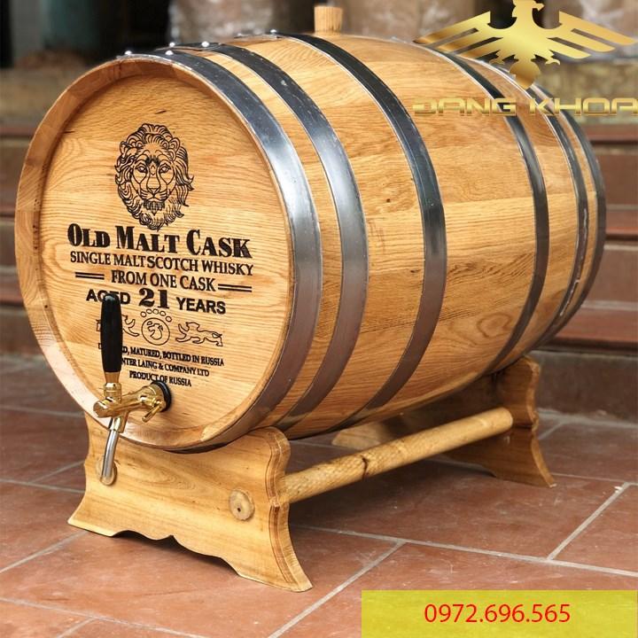 Thùng gỗ sồi ngâm rượu trực tiếp