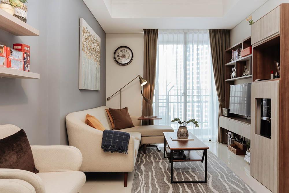 Sự pha trộn ấm áp của phong cách hiện đại đương đại trong một căn hộ