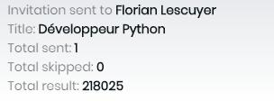 résultats de recherche de LinkHelp pour l'option développeur