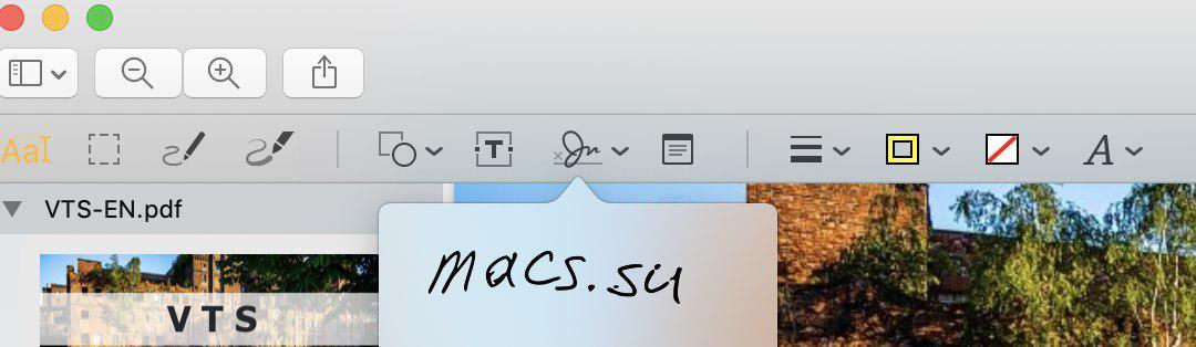 цифровая подпись средствами Мак ОС