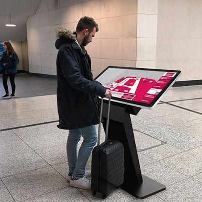 Digital touch screen kiosk. Source: SignboxShop - Retail Digital Signage - Rev Interactive