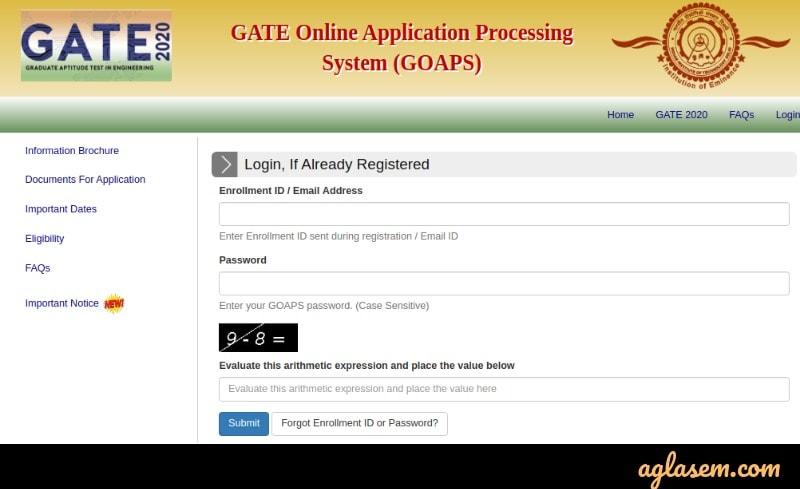 GATE 2021 GOAPS