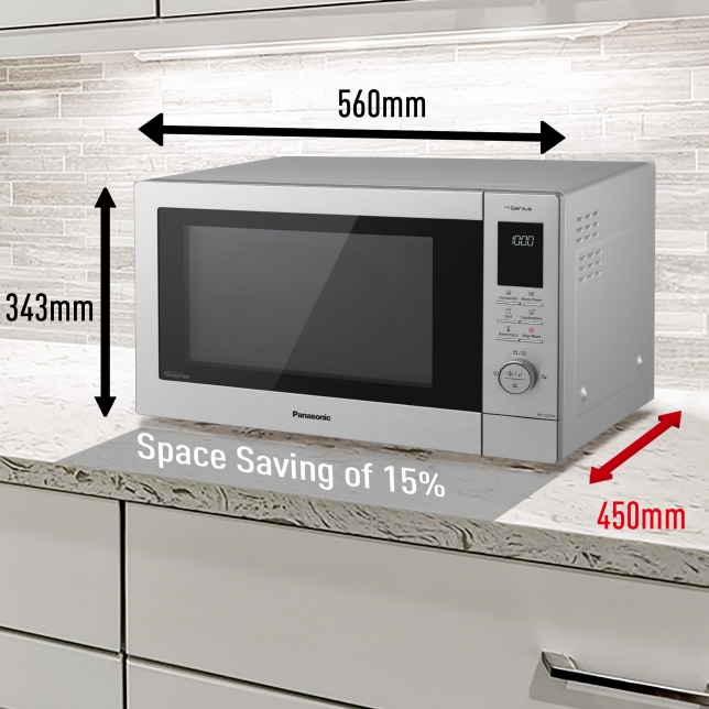 Save space in your kitchen with an inbuilt combi microwave. Source: Panasonic