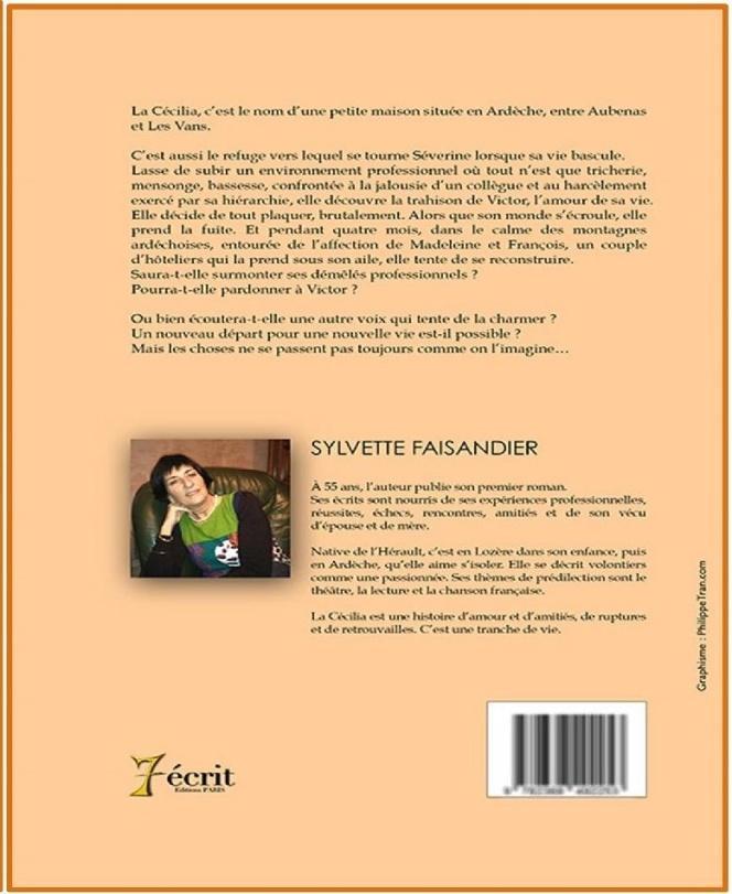 C:\Users\Sylvette\Documents\Partie Ecriture\Salons et autres autour\_Editeurs et salons\couvertures livres\La Cécilia verso.jpg