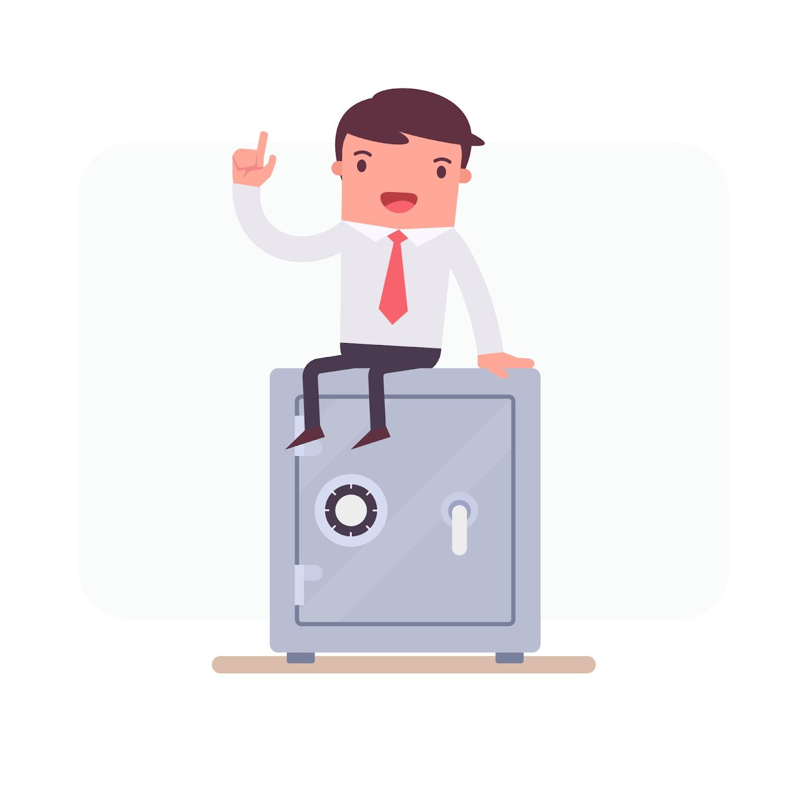 hoe een kluis verankeren