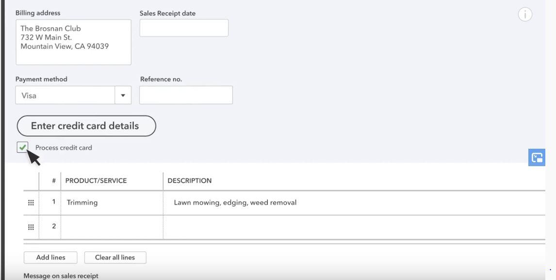 QuickBooks Credit Card Processing 1