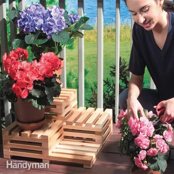 Tiered Plant Stand: These 25 Woodworking Projects For The Garden will help you make some money.