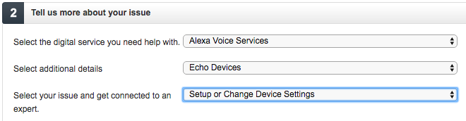 Contacting Amazon for help with Echo Connections