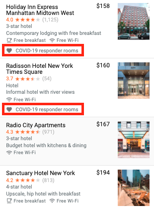New tag for Hotels on Google: COVID-19-Responder Policy